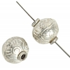 Metal Beads 10x9.5mm Round 8'' Str. (approx.20pcs) Antique Silver
